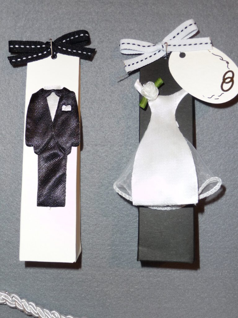 Bonboniere und Tischdekoration zur Hochzeit