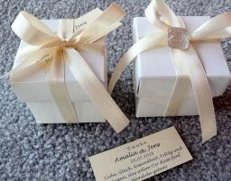 Bonboniere zur Hochzeit, Ausgefallene Tischdekoration