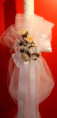 Kerzen für die Griechisch-Orthodoxe Hochzeit