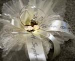 Bonboniere zur Silbernen und Goldenen Hochzeit, Tischdekoration