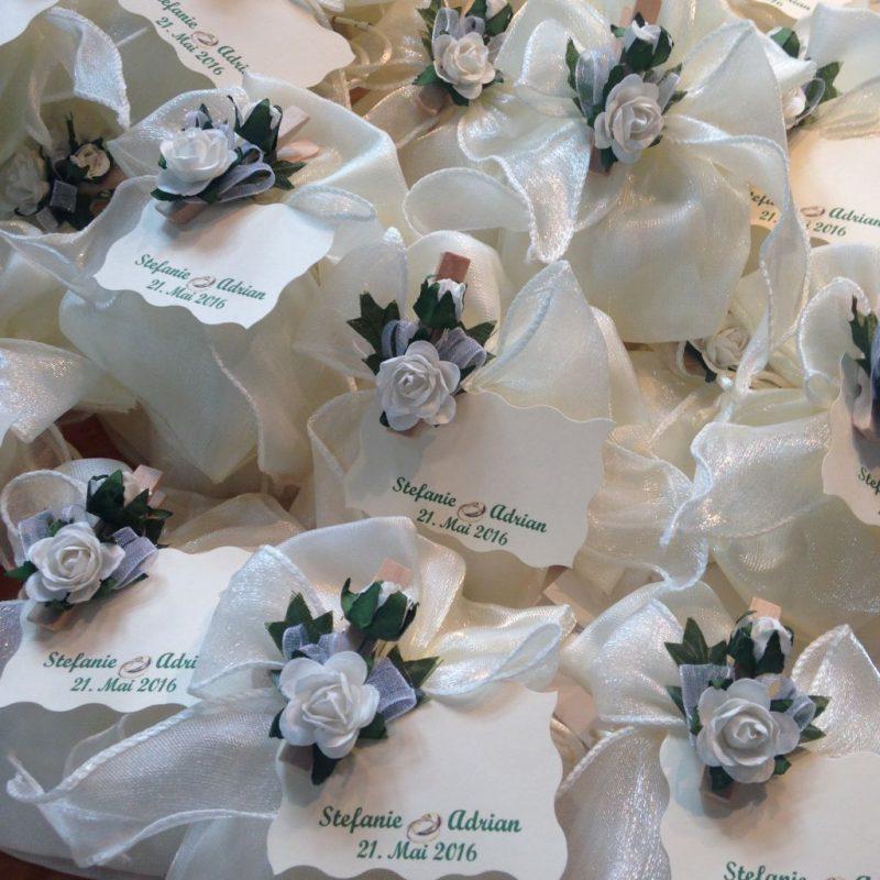 Gastgeschenk und Tischkarte zur Hochzeit