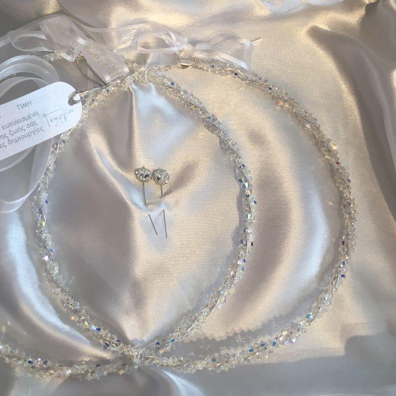 Kranzset/ Stephana zur griechische Hochzeit!