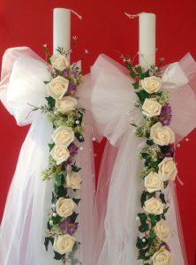 Wunderschöne Hochzeitskerze zur orthodoxe Feier!
