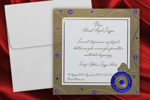 Einladungen zur Bescheidungsfeier, günstigen Einladungen, davetiye