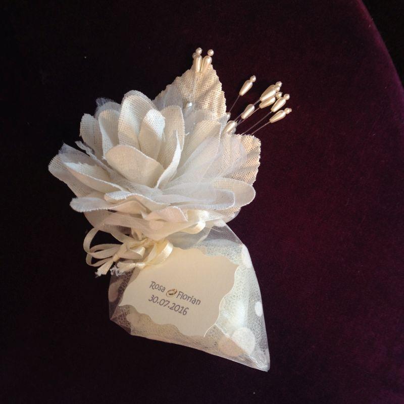 Hochzeits Bonboniere, Tischkarte, Tischdekoration