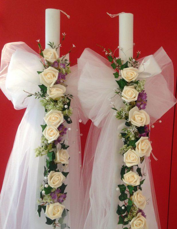 Griechische Hochzeitkerze , Lambades, Luminare
