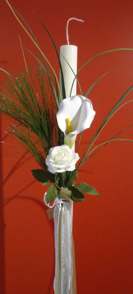 Hochzeitskerze für die griechisch oder roumänisch orthodoxe Hochzeit