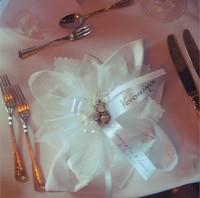 Bonboniere als Tischkarte für die Hochzeit