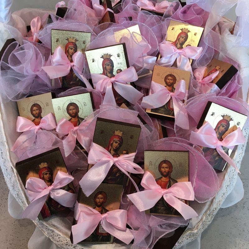 Bonboniere mit Ikonen zur orthodoxe Taufe