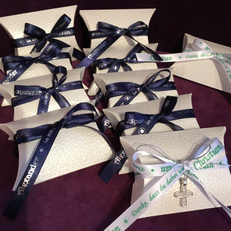 Personalisierte giveaways zur Kommunion, Firmung