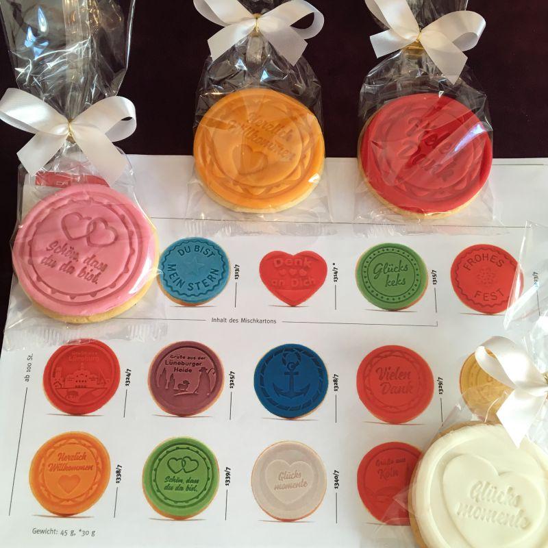 Personalisierte Keksbotschaften als Dankeschön oder kleine Aufmerksamkeit !