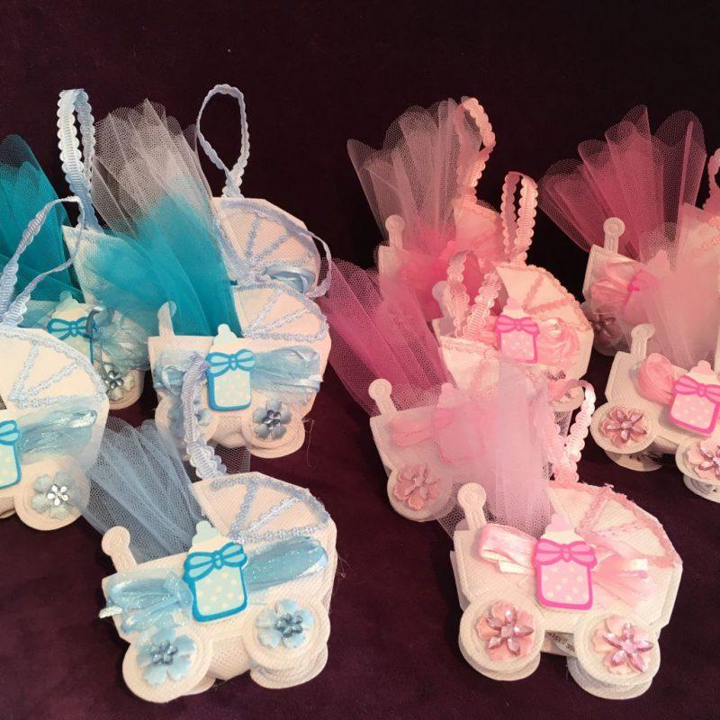 Bonboniere zur Babyparty, Geburt, Taufe, Tischdeko für die Tauffeier