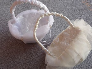 Hochzeits Körbe für Blumenmädchen, Hochzeits Zubehör