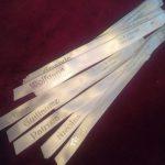 Personalisierte Bänder für eine Hochzeitfeier!