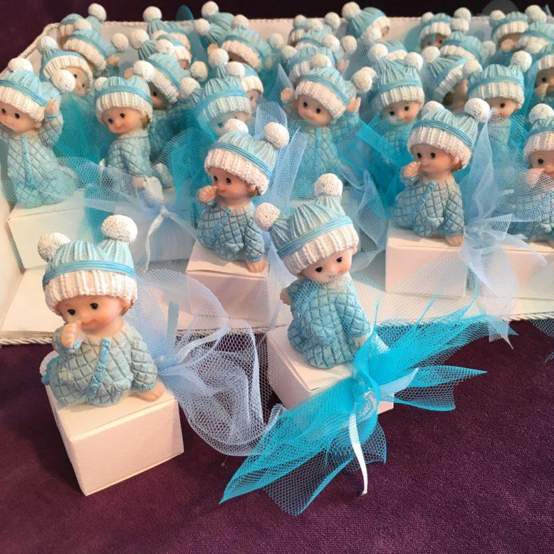 Bonbonieren zur Taufe mit Babyfiguren