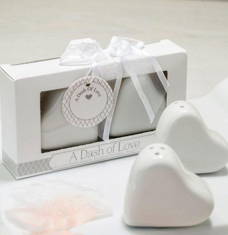 Hochzeit Bonboniere mit Salz & Pfeffer Herzen