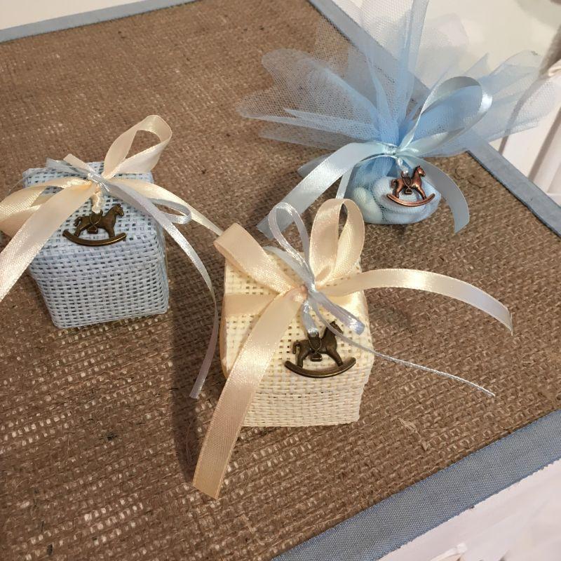 Bonboniere zur Taufe mit Schaukelpferd