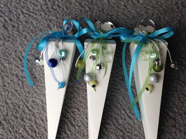 Bonbonieren zur Taufe mit Schlüsselanhänger
