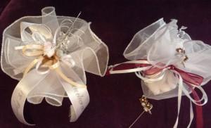 Jubiläums bonboniere, silberne Hochzeit Gastgeschenk