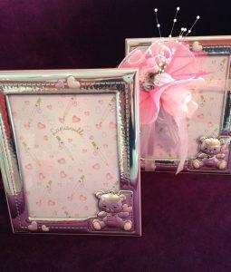 Hübsche Bilderrahmen mit Teddys in rosa!