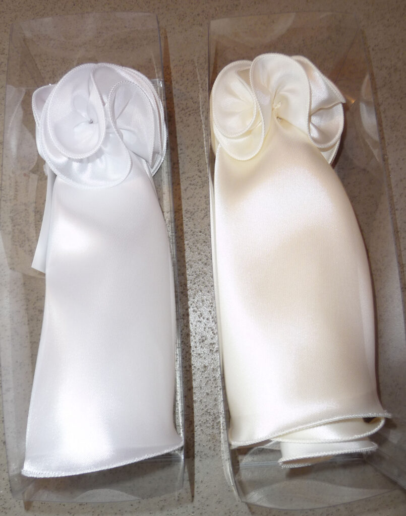 Ausstattung zur Kommunion; Kerzenrock mit Tropfen für die Kommunionskerzen