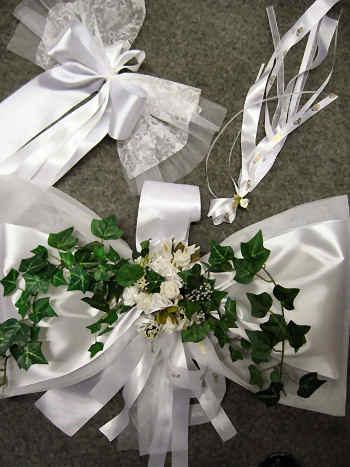 Autodekoration zur Hochzeit, Hochzeits Deko