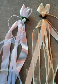 Autodekoration für die Hochzeit, Antennenschleife