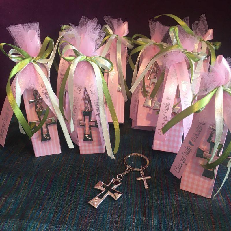 Gastgeschenke zur Taufe mit Schlüsselanhänger