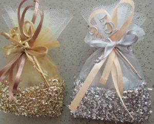Jubiläums bonboniere,Gastgeschenke zur silberne oder goldene Hochzeit