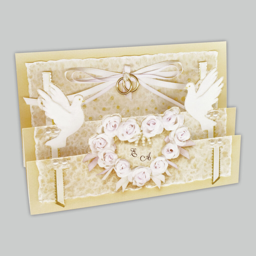 Romantische Einladungen für die Hochzeit, Elegante Einladungen