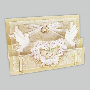 Artikel Hk03 Elegante Einladungen Mit Tauben Und Ringen