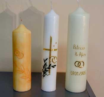 Kerzen für den Hochzeitstisch, Tischdekoration