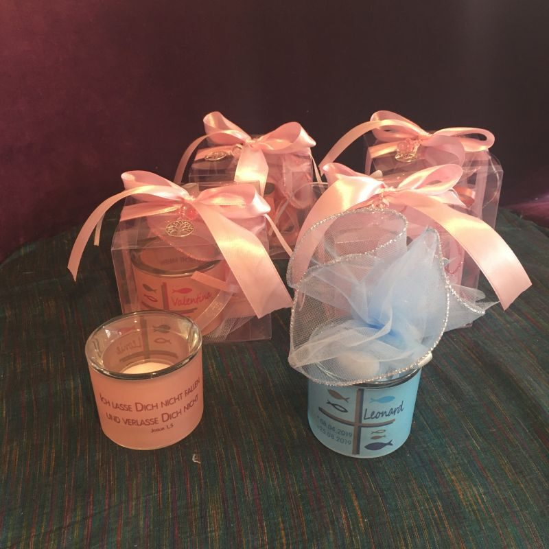 Personalisierte Gastgeschenke Bonboniere zur Taufe
