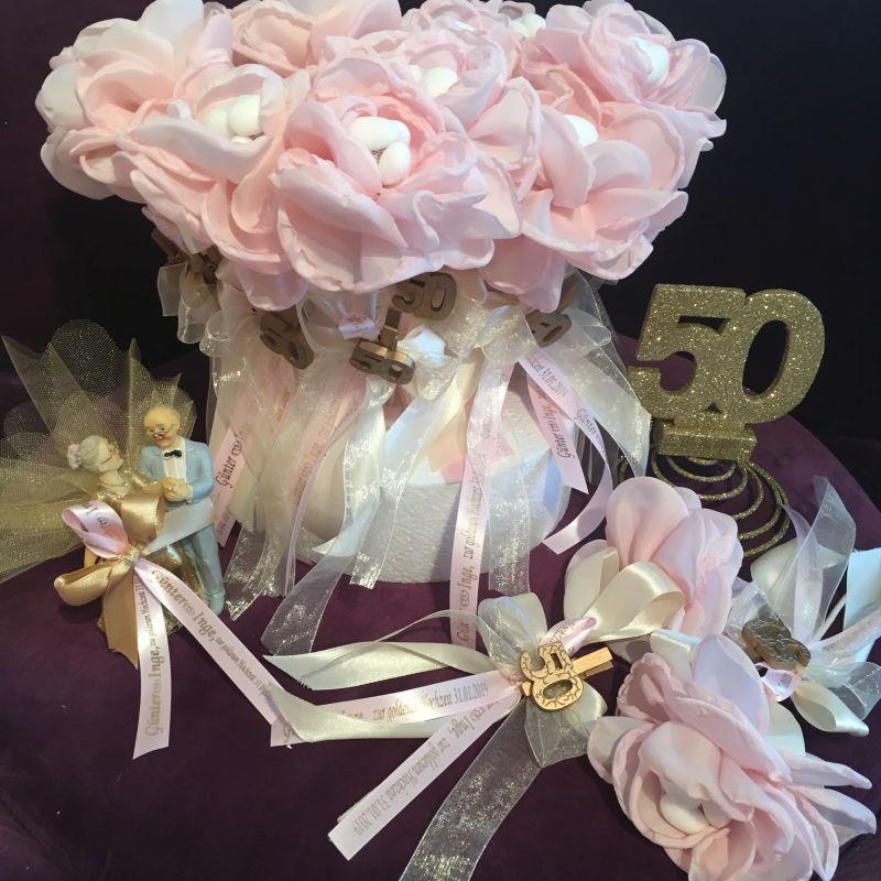 Wunderschöne pesonalisierte Bonboniere zur goldene Hochzeit!