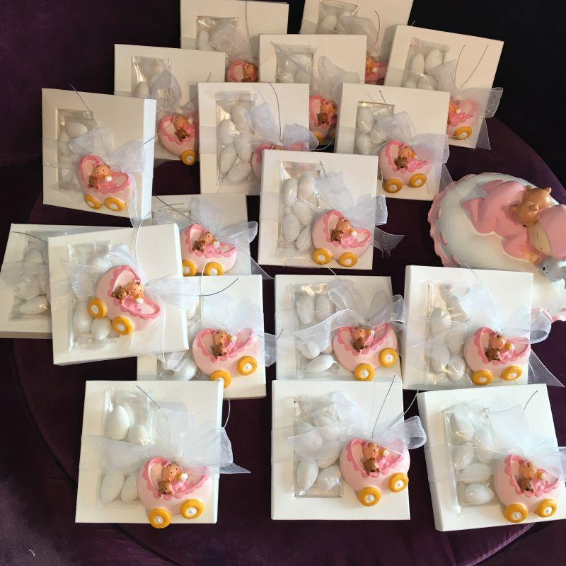 Bonboniere zur Geburt oder Taufe mit Magnet