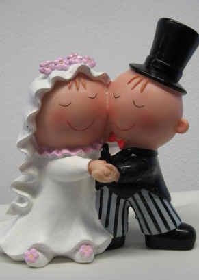 Tortendekoration für das Hochzeitfest