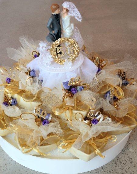 Bonboniere, Gastgeschenke, Tischdekoration zur silberne und goldenen Hochzeit!