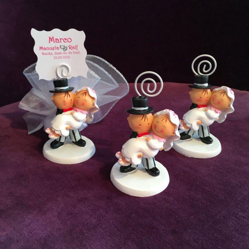 bonboniere und Tischkarte zur Hochzeit