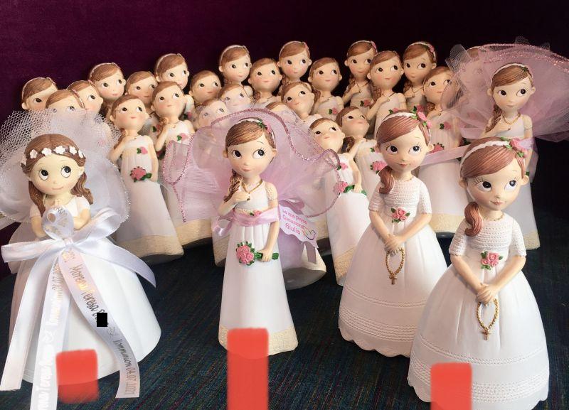 Erstkommunion Gastgeschenk mit Mädchen Figuren