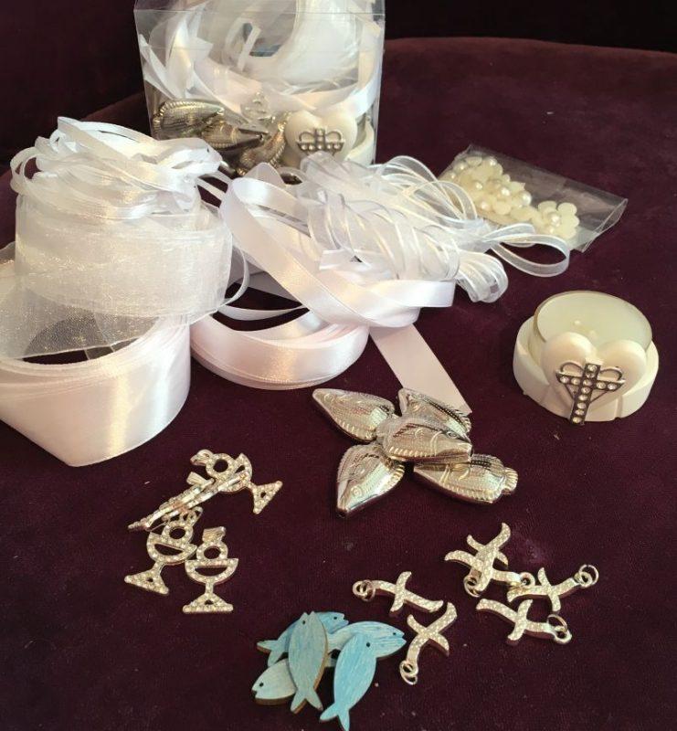 Box Set für Ihre Tischdekoration zur Kommunion, Firmung