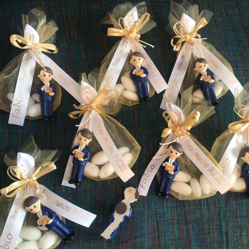 Personalisierte Bonboniere zur Kommunion mit Magnet Figur