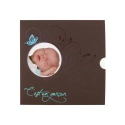 Hübsche moderne Einladungen zur Taufe, Geburtsanzeige, Geburtskarte