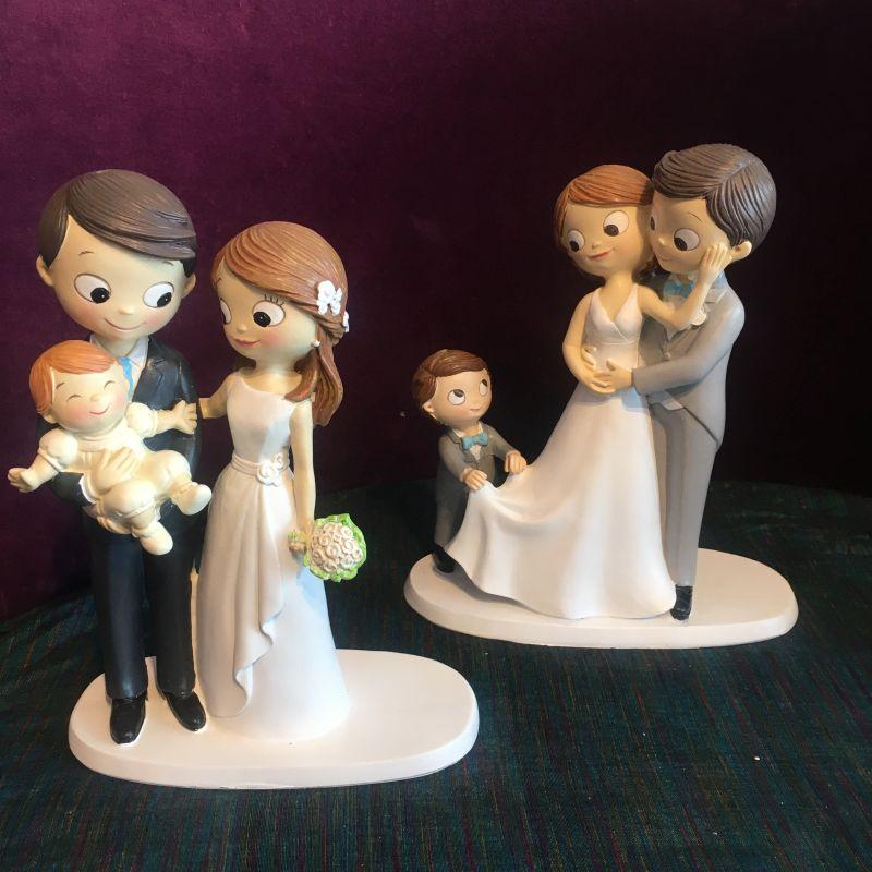 Brautpaar Figuren mit Kind oder Baby