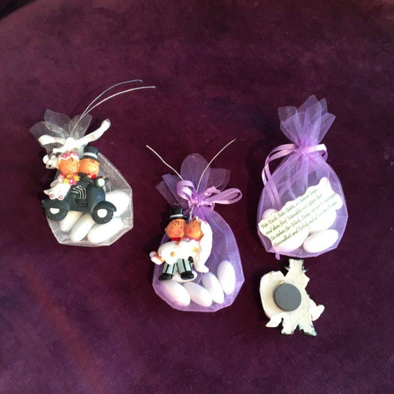 Bonboniere oder Gastgeschenke zur Hochzeit mit Hochzeitspaar