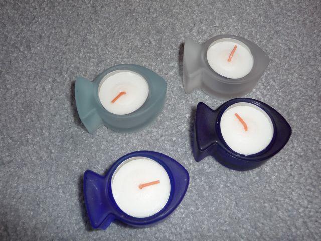 Tischdekoration zur Kommunion - Teelichte