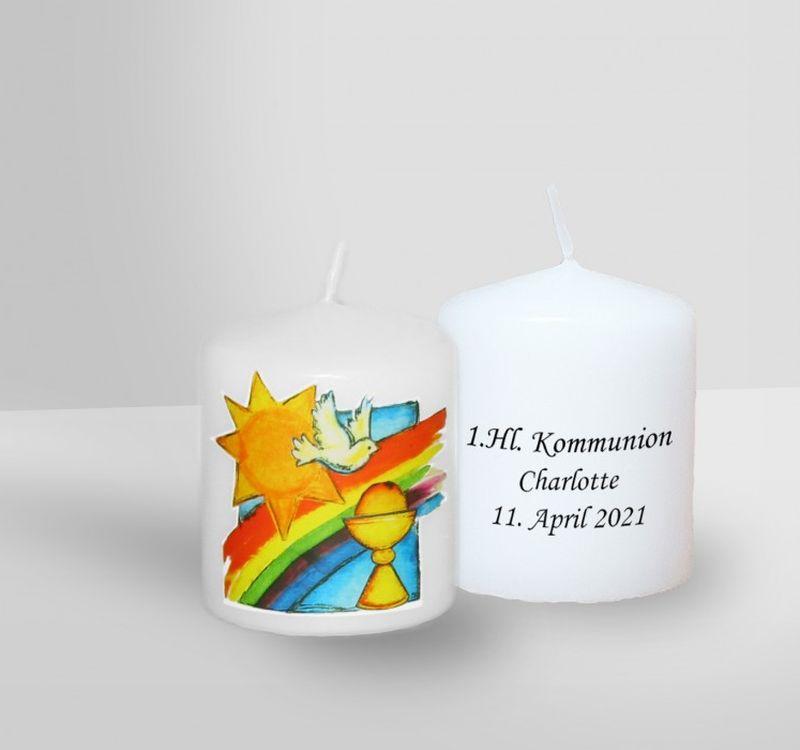 Individuelle Kerze zur Kommunion