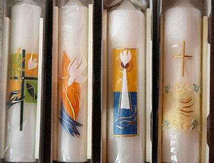 Taufkerzen, Kerzen zur Taufe