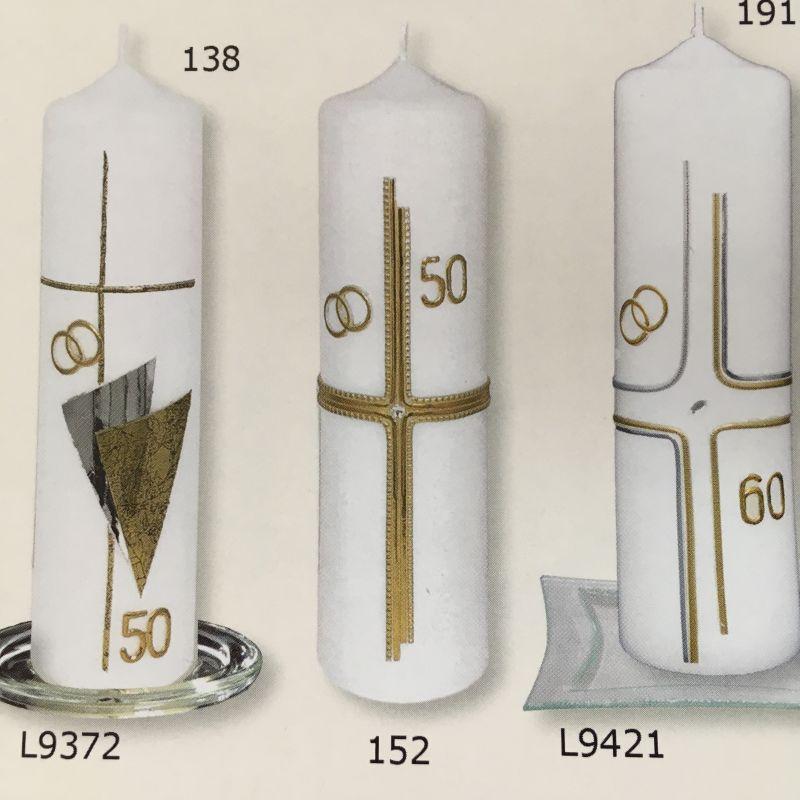 Jubiläen Kerzen goldene oder silberne Hochzeit