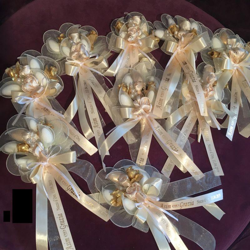 Personalisierte Goldene oder silberne Hochzeit Bomboniere