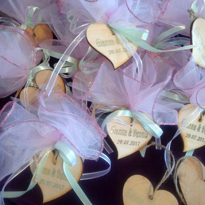 Personalisierte Hochzeits Bonboniere